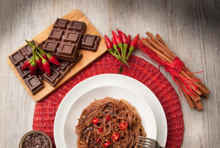 spaghetti aglio olio e cioccolato
